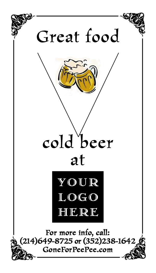 Great food - cold beer at