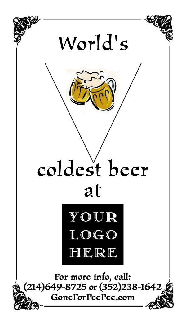 World's - coldest beer at